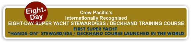 Crew Pacific's 8 Day Steward/ess Deckhand Course
